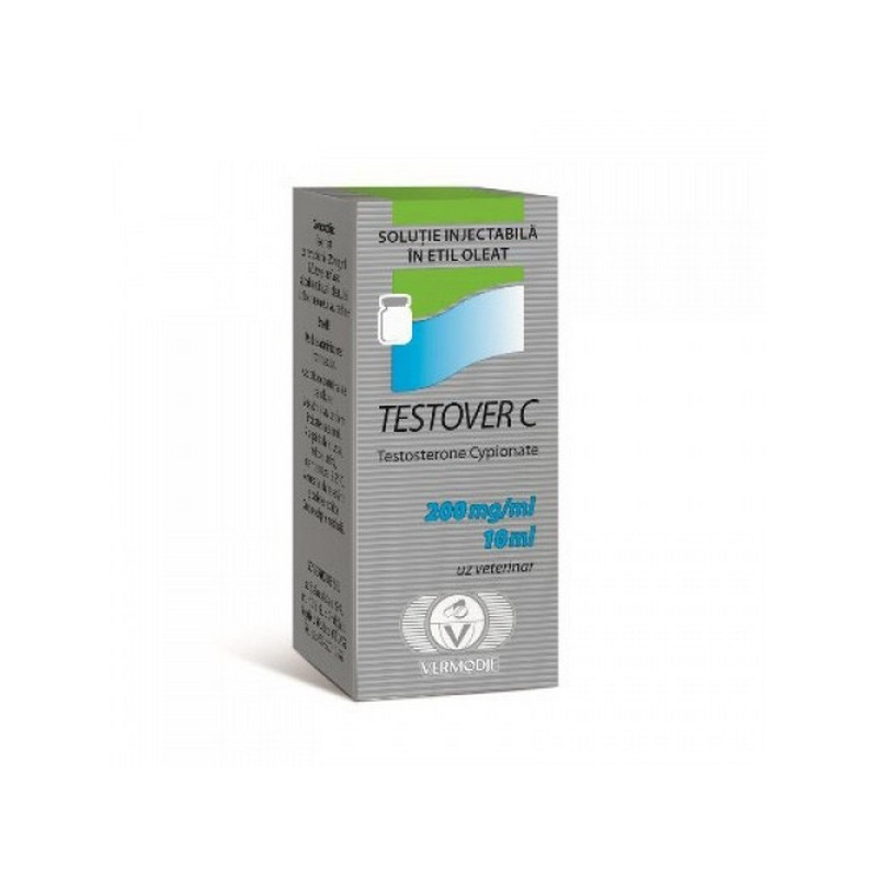 Buy Testosterone cypionate 10ml vial (200 mg/ml) online: Testover C vial by Vermodje